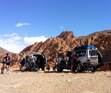 Mountain bike in south of Morocco<